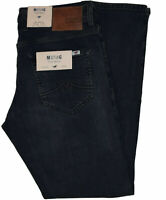 Mustang Oregon Tapered Jeans True Denim Stretched Slim Low Dark Stonewashed