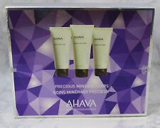 Ahava DeadSea Water Precious Mineral Stars 3pc Set 3.4oz Ea Hand Body FootCream