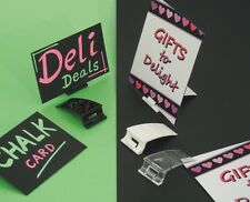 Price card ticket holder for retail displays or deli food counter card gripper