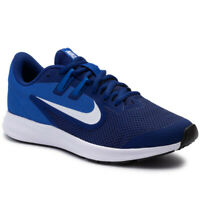Nike Downshifter 9 GS Junior Boys Navy Blue White Lightweight Running Trainers