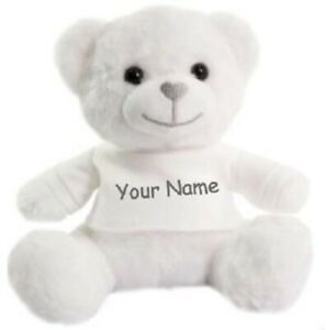 personalised teddy, name, super soft, cuddly, girl, boy, memorial, Christmas