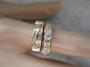 14K Yellow Gold Natural Diamond Engagement Set