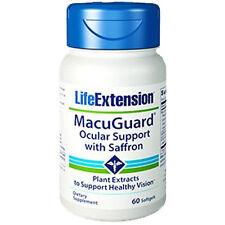 MacuGuard Ocular Support with Saffron 60 gels Phospholipids Life Extension