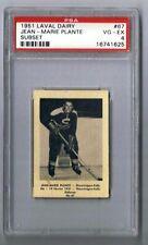 1952-53 Laval Dairy Hockey Card Shawinigan Falls Jean-Marie Plante Graded PSA 4