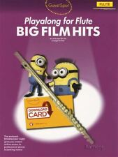 Guest Spot Playalong for Flute Big Film Hits Sheet Music Book/Audio