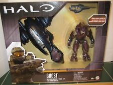HALO Ghost Vehicle and Elite Officer Set Fully Articulated Figure with Stand