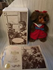 Raikes Applause Jessica girl brown puppy dog NIB 1992 NIB wood face
