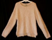 Girls Next Pale Plain Pink Furry Fluffy Soft Feel Stretchy Jumper Age 8 Years
