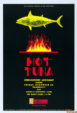 Hot Tuna Poster Jorma Kaukonen Jack Cassidy 1988 Dec 30 New Fillmore F70
