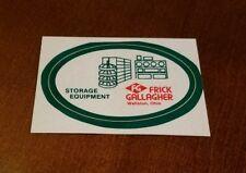 Frick Gallagher Storage Equipment Hard Hat Sticker