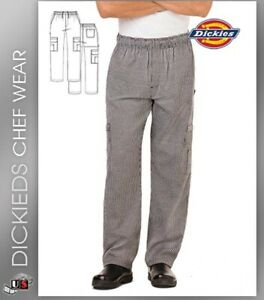 NWT DICKIES UNISEX CARGO STYLE CHEF PANTS IN HOUNDSTOOTH DC10