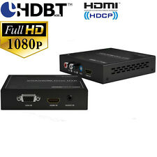HDBaseT Extender with HDMI and VGA Auto-Switch TX and PoH EDID audio up to 100M