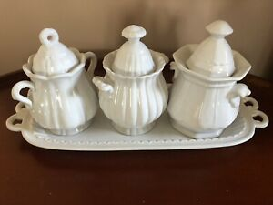 Porcelain Treasures Vintage English Ironstone Serving Set, Rare.