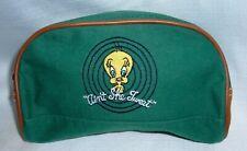 Vintage 1994 Tweety Bird Looney Tunes Warner Bros Leather Canvas Bag Travel Make