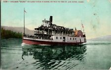 "1909. STEAMER ""IDAHO"" LAKE COEUR D'ALENE, WAY TO ST JOE RIVER, ID POSTCARD EP6"