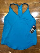 Womens Size Large Under Armour Athletic Tank Top Solid Green