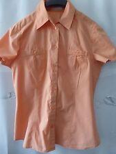 OPUS Damen Bluse  Gr 38 Mandarine Kurzarm Knöpfe Baumwollmischung Brusttäschchen