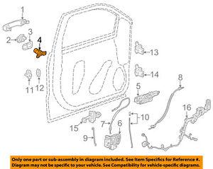 GM OEM Front Door-Lock Cylinder 13590041