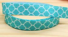 Tiffany Blue Elastic  5/8''  5 Yards ribbon Hair Bands bow Moroccan