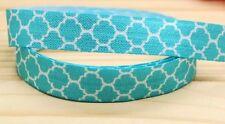 Tiffany Blue Elastic  5/8''  5 Yards ribbon Hair Bands bow Moroccan