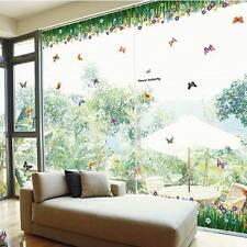 Flowers Butterfly Removable Wall Sticker Decals Mural Art Home Decor Vinyl Kids