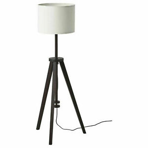 Ikea LAUTERS Floor lamp, brown ash/white - NEW FREE SHIP
