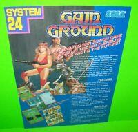 Gain Ground Sega Arcade FLYER Original 1988 NOS Video Game Artwork System 24