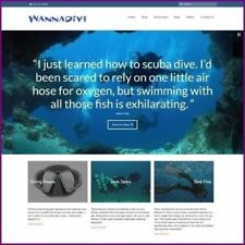 SCUBA DIVING Website Business For Sale Upto $719.60 A Sale + Free Domain + Host
