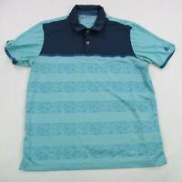 Adidas Golf Climacool Mens Polo Shirt Blue Short Sleeve Stretch Medium