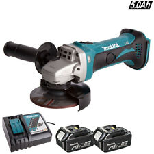 Makita DGA452Z 18V 115mm Cordless Angle Grinder With 2 x 5Ah Batteries & Charger