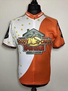 Verge Woody Creek Tavern Colorado USA Bike Bicycle Cycling Shirt Jersey M VGC