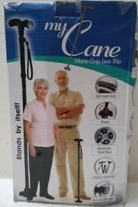 MY CANE  MORE GRIP LESS SLIP. BUILT IN  6 LED`S with ADJUSTABLE LED LIGHT .