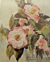 """Camellia Pink"" by Glenda Jones -Art, Lithograph Print"