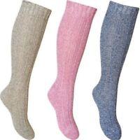 3 Pairs Ladies Long Thick Wool Thermal Boot Socks Walking Hiking Ski Winter Warm