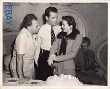Director Wesley Ruggles Henry Fonda Barbara Stanwyck VINTAGE Photo candid on set