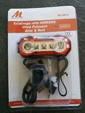Eclairage vélo arrière ultra puissant 120 lumens rechargeable. Rear bike light.