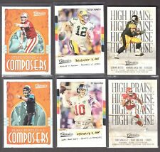 2018 CLASSICS NFL INSERTS ( INSTANT - HIGH PRAISE - COMPOSERS ) WHO DO YOU NEED!