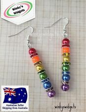 Rainbow Earrings - LGBTI Lesbian Gay Pride >>