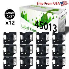 12 Pack 45013 Label Tape Use For Dymo Label Maker Pc2 Pnp Wireless Pnp 160 200