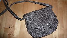 H&M Bag GREY Glossy Shoulder Animal Faux Print Chic Smart Boutique FAB RARE!!!!