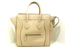 Auth CELINE Luggage Mini Shopper LightBrown Leather Tote Bag