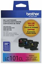 3PK Genuine Brother LC-101 CMY Ink Cartridge for DCP-J152W MFC-J245 MFC-J870DW