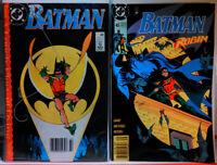 BATMAN #442 + #465 NEWSSTAND VARIANT Key 1st Tim Drake ROBIN DC COMICS fine+