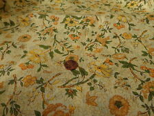 COTTON QUILTING SEWING FABRIC BY THE HALF YARD 44 WIDE YELLOW FLOWERS