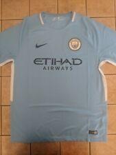 Manchester City 17/18 Home Replica Blank Jersey Men's Nike Blue