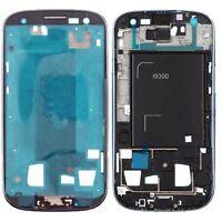 Samsung Galaxy S3 i9300 Display Rahmen Frame Bezel Blau inkl. Klebefolie