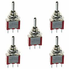 5pc Heavy Duty Toggle Switch 12v On/off Car Boat Dash Light Metal 12 Volt
