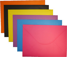 100 x C5 A5 Coloured Envelopes 162x229mm Greeting Card Party Invitations Crafts