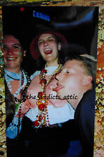 Vtg Mardi Gra Photo Of Excited Woman And Guy Licking Fake Nude Nipple Tits O125