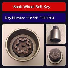 """Genuine Saab locking wheel bolt / nut key FER 1724 112 """"N"""""""
